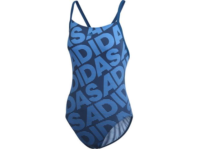 adidas Allover Print One Piece Swimsuit Damer, legend marine
